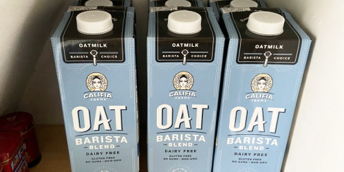 Califia Farms Oat Milk 32oz Carton 6-Pack Only $13.97 Shipped on Amazon | Just $2.33 Each