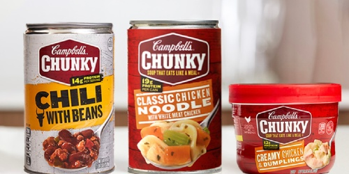 Campbell's Chunky Chili 12-Pack Only $18 Shipped on Amazon | Just $1.52 Per Can