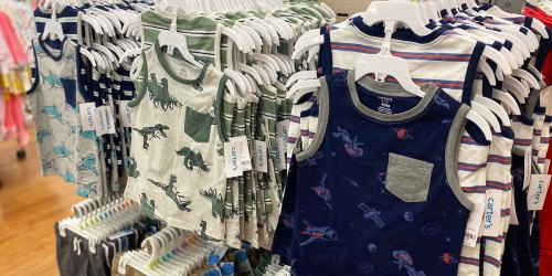 Up to 80% Off Carter's Apparel Until 6PM EST   Tees from $3.49, Tanks & Shorts from $5!