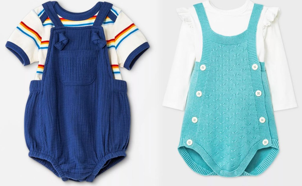 two baby girls outfit sets