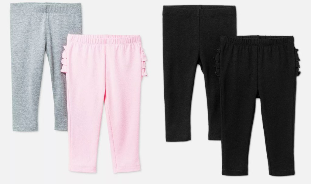 two 2-pack sets of baby girls leggings
