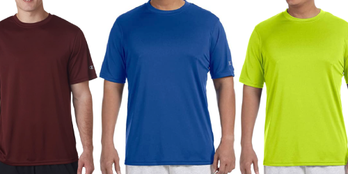 Champion Men's Double Dry Short Sleeve Tee Only $6.50 Each (Regularly $18) | 8 Color Choices