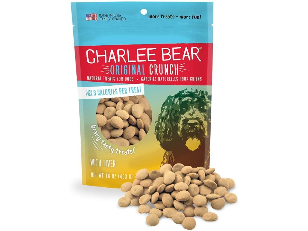 small bag of crunchy dog treats