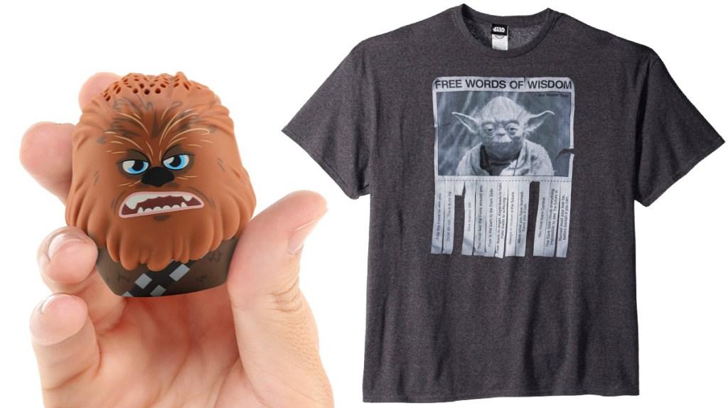Chewbacca Speaker and STAR WARS Men's Words of Wisdom T-Shirt