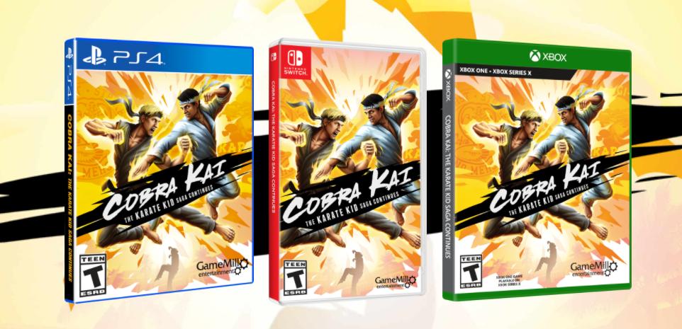 three Cobra Kai Videogames