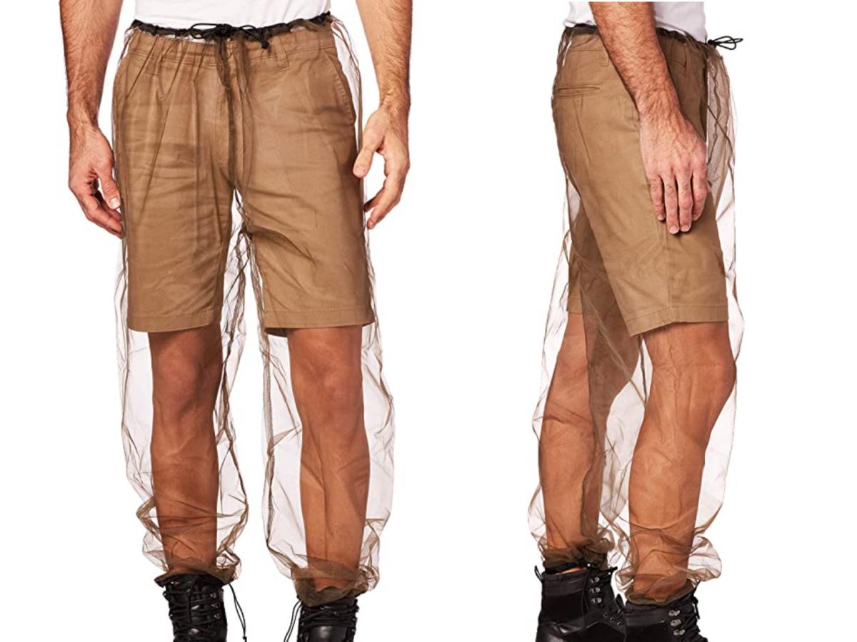 man wearing coghlans bug pants