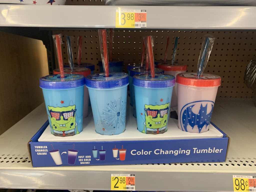 forth of july themed tumblers on display in-store