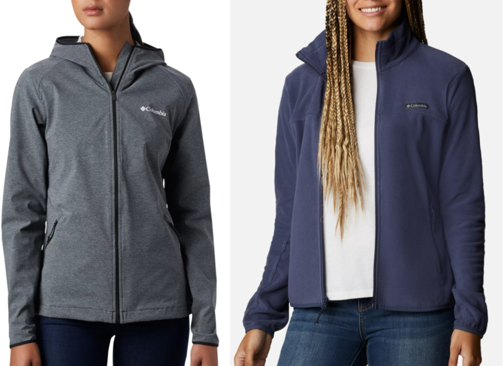 2 women columbis lightweight jackets