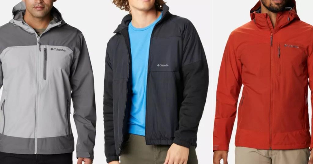 men wearing columbia jackets