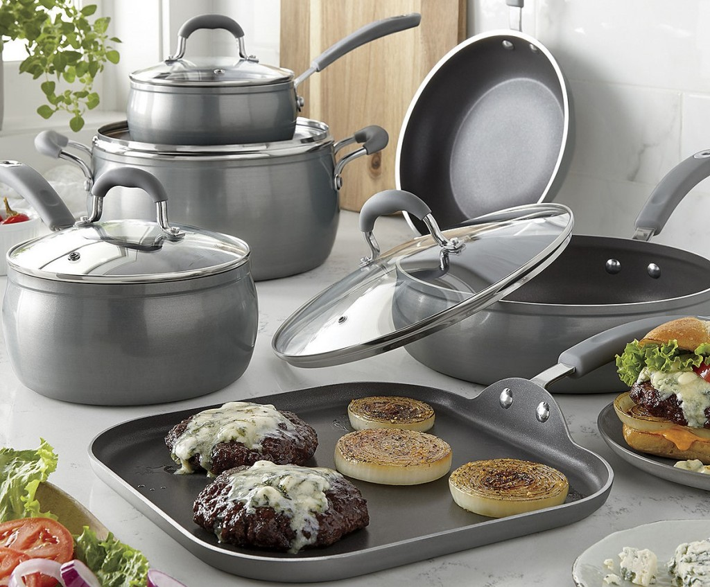 Cooks Contour Cookware set on a kitchen counter