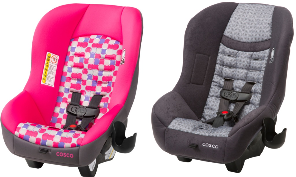 Two styles of Cosco car seats