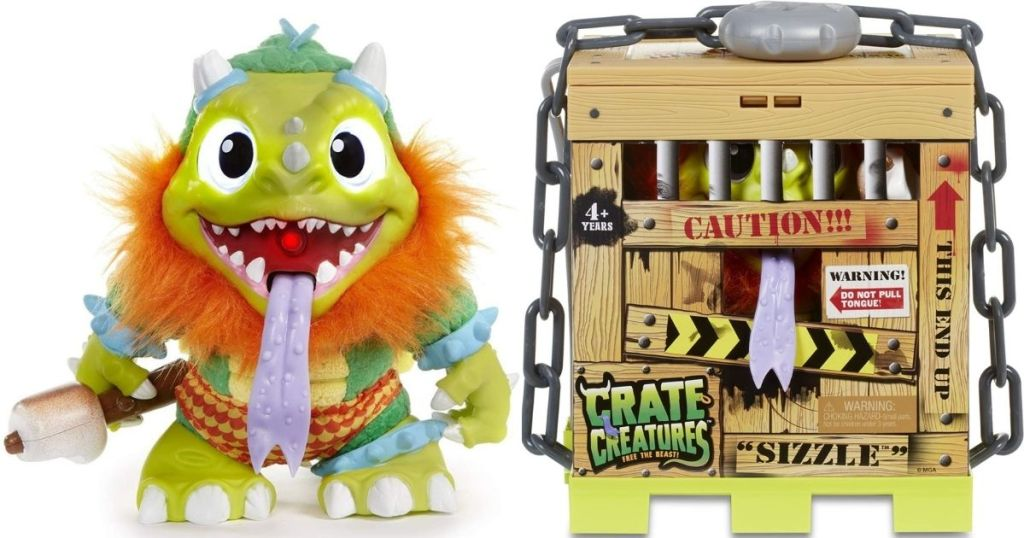 Crate Creatures Sizzle toy and box