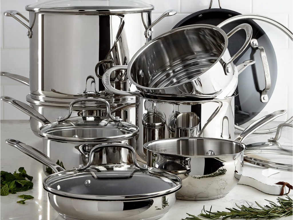Cuisinart Chef's Classic 14-Piece Stainless Steel Cookware Set