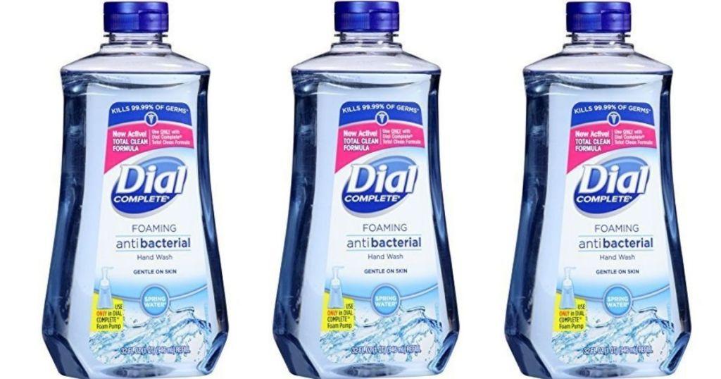 three hand soap refills