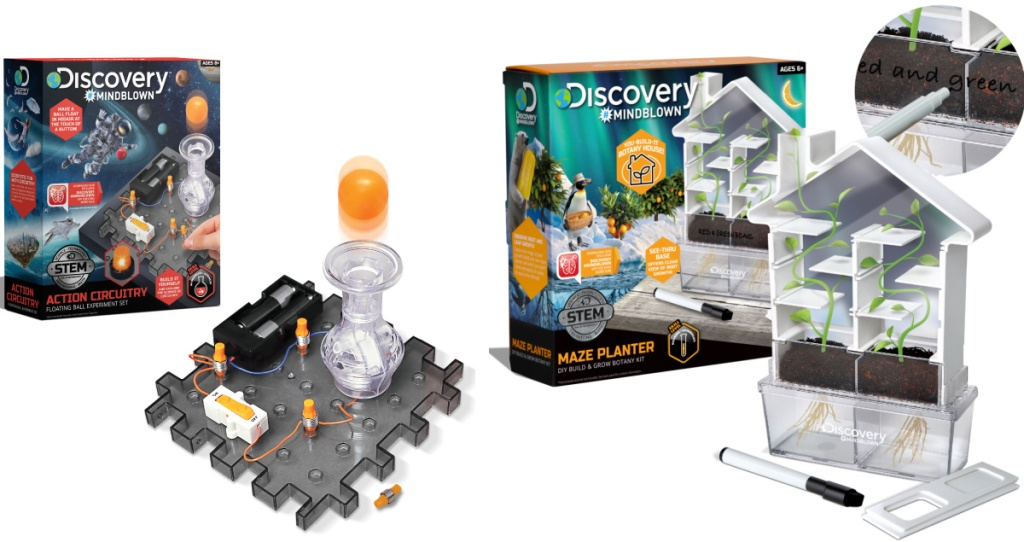Two styles of STEM sets