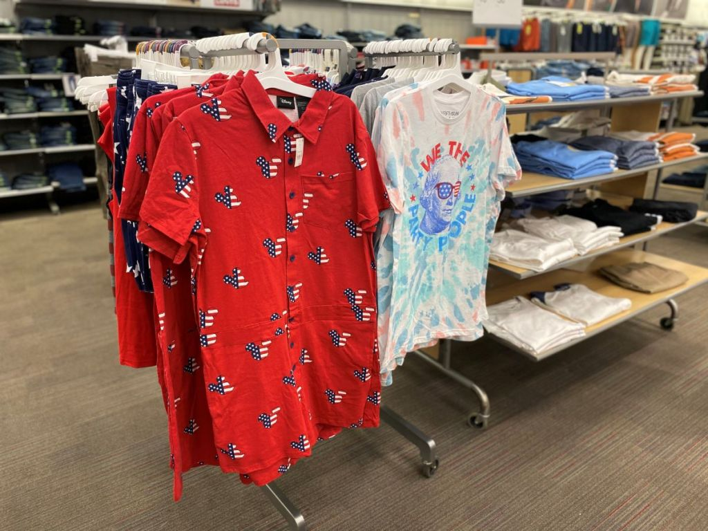 romper on hangers at Target