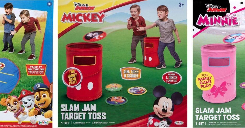 Three Disney and Paw patrol backyard Games for Kids