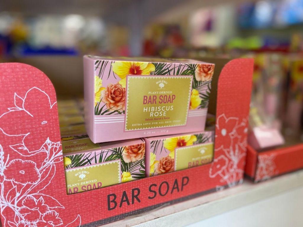 Bolero Plant-Derived Hibiscus Rose Bar Soap in store
