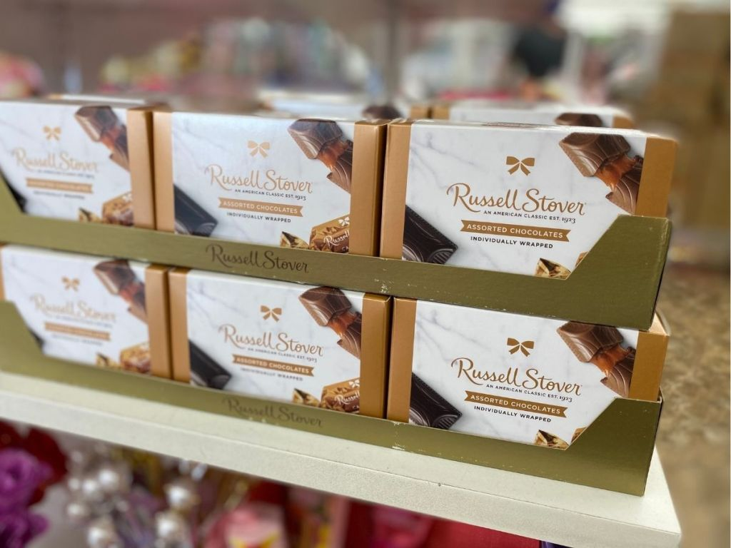 Russell Stover chocolates on store shelf