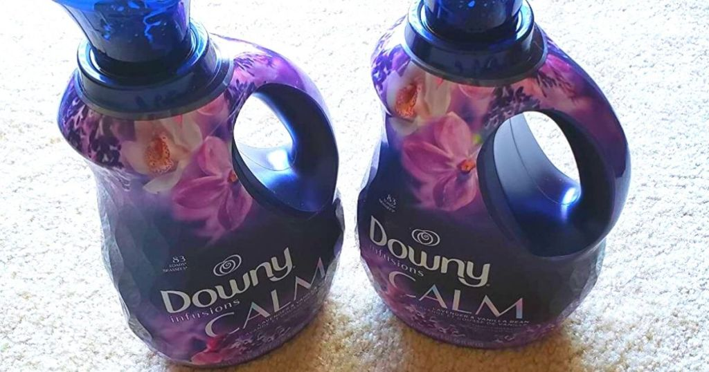 two bottles of Downy Infusions calm