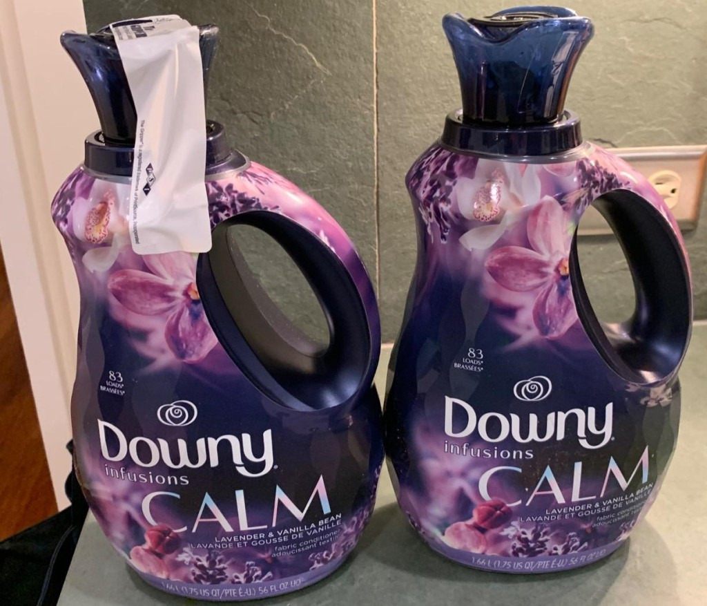 two bottles of Downy Infusions