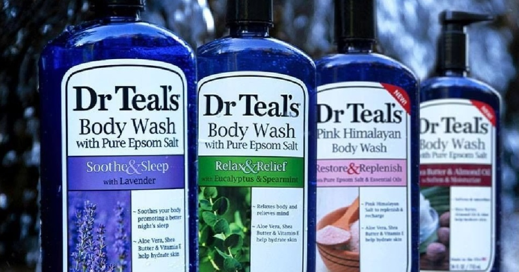 four bottles of body wash