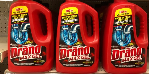 Drano Max Gel 80oz Bottle Only $6 on Amazon (Regularly $12)