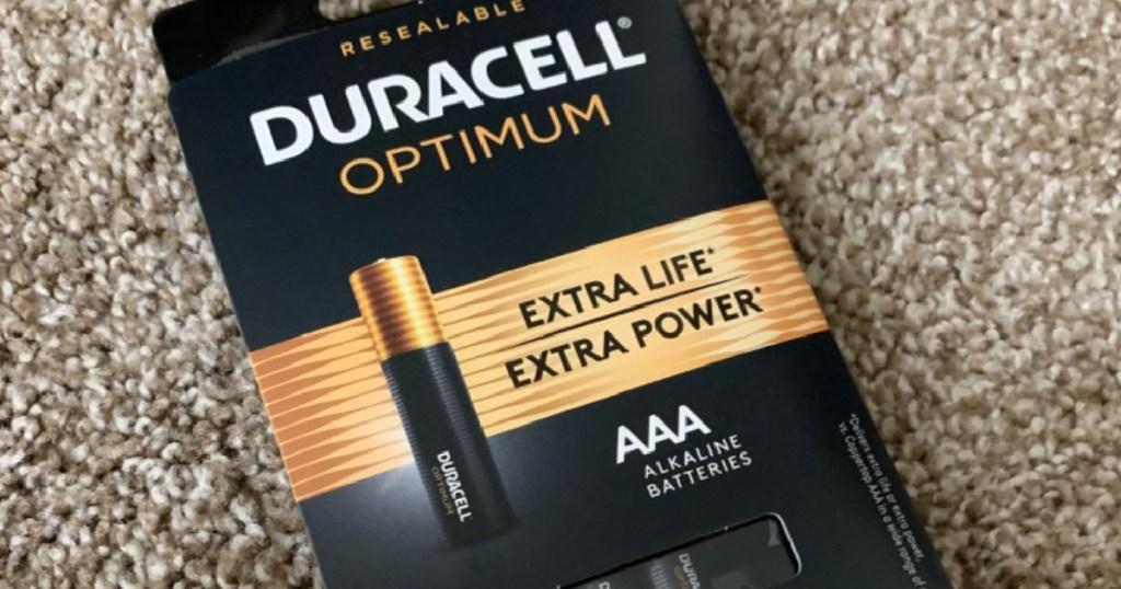duracell optimum batteries AAA