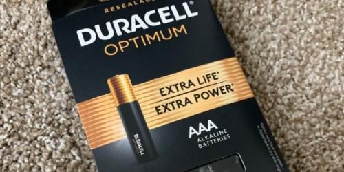 Free Duracell Optimum Batteries 12 & 18-Packs After Office Depot Rewards