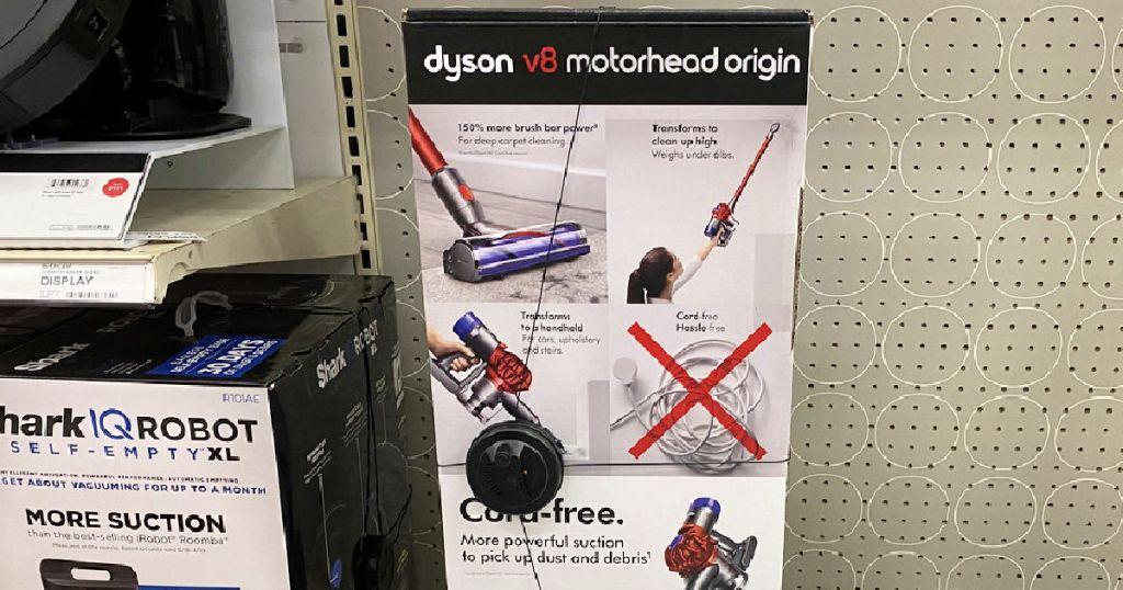 vacuum on shelf at store
