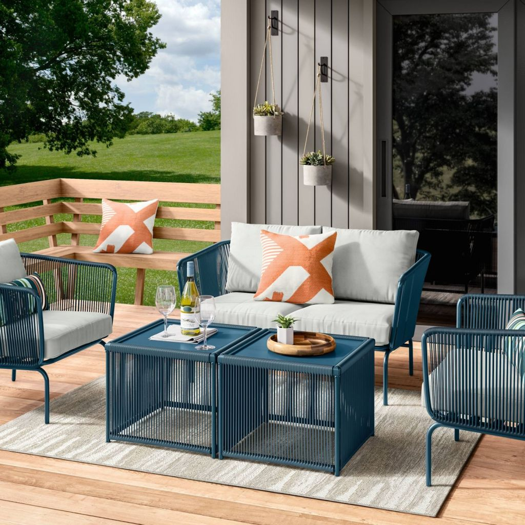 Fisher Coffee Tables in outdoor patio setting
