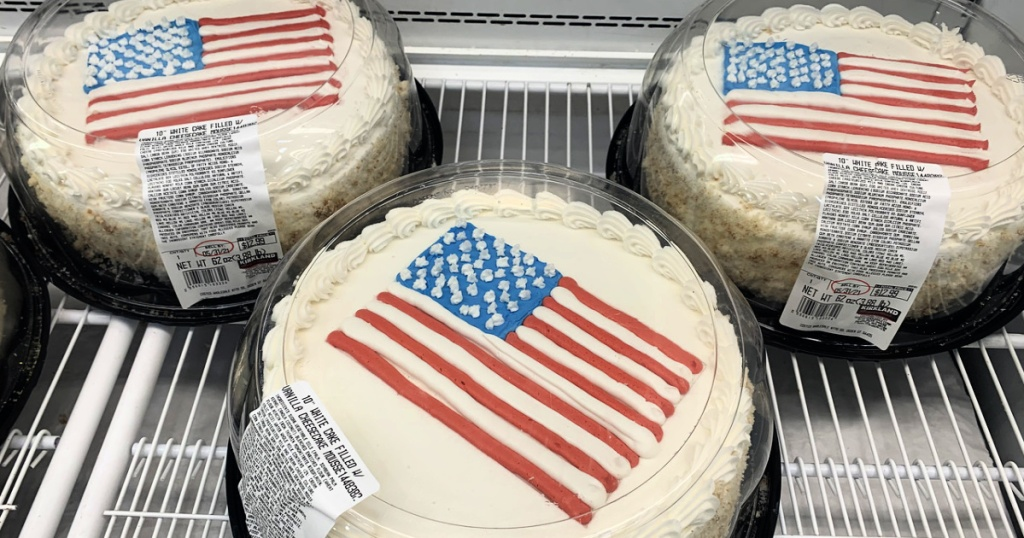 Flag cakes at Costco