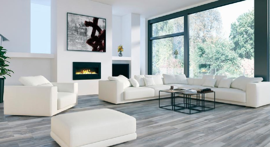 Florida Tile Home Collection Outer Banks Blue Matte Porcelain Floor and Wall Tile