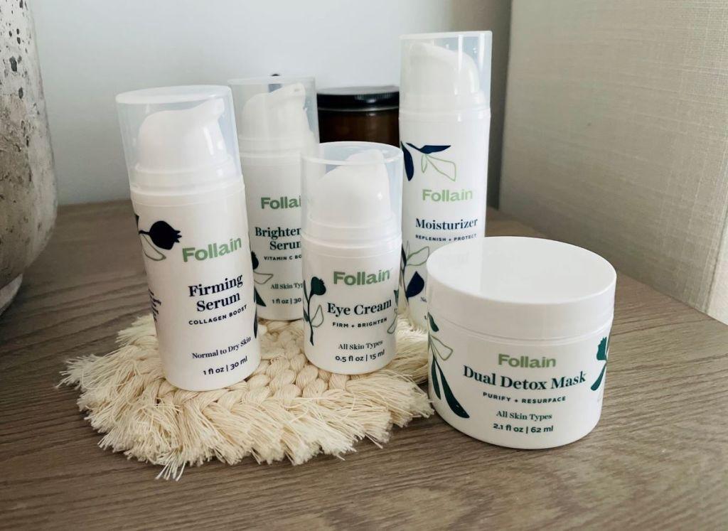 group of Follain skincare