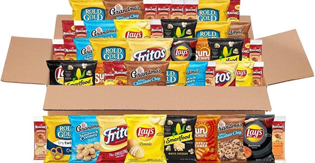 box of Frito-lay Snacks