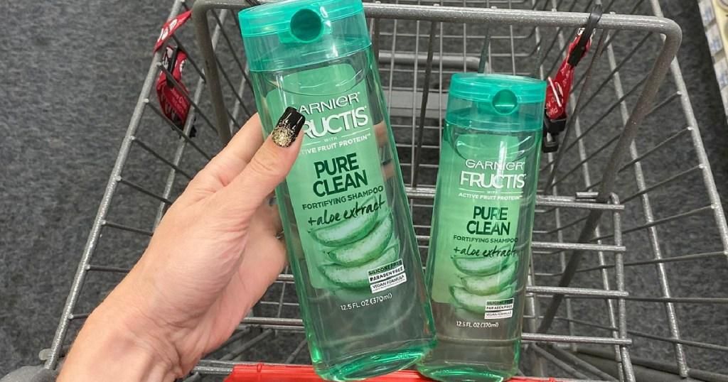 Garnier Pure Clean Haircare in shopping cart