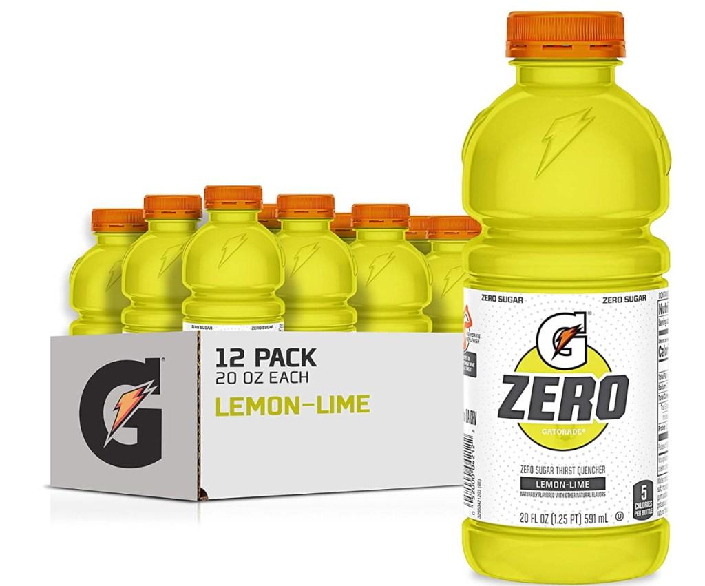 large 12 pack of lemon lime gatorade