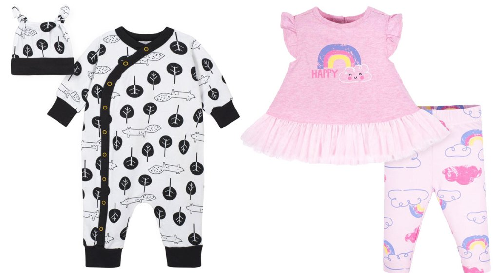 two baby outfit sets