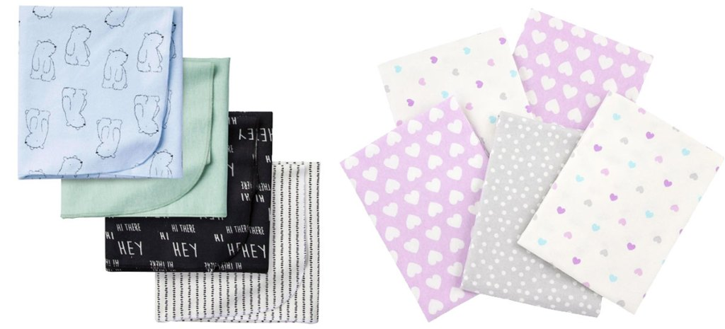 multi pack sets of baby receiving blankets