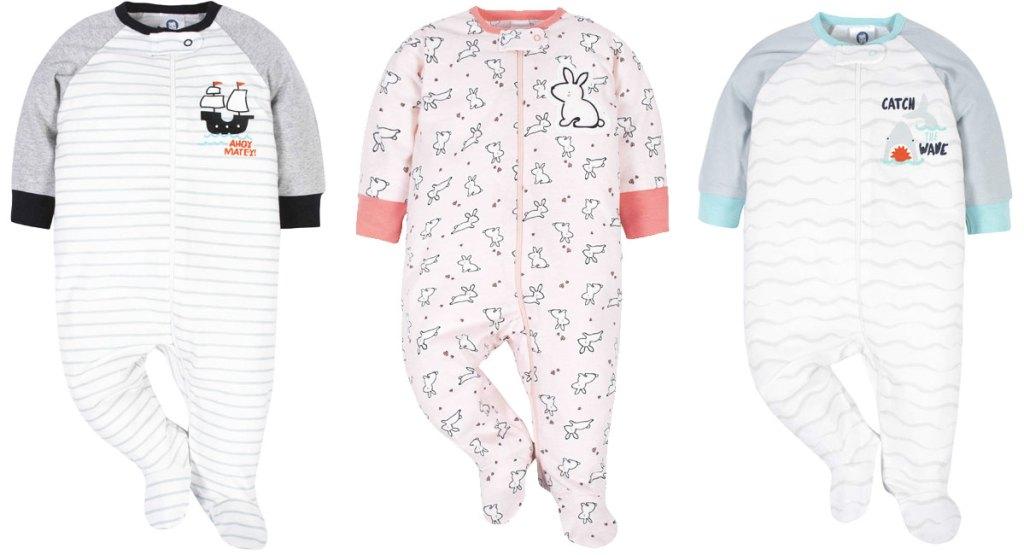 3 baby sleep n play sleepers