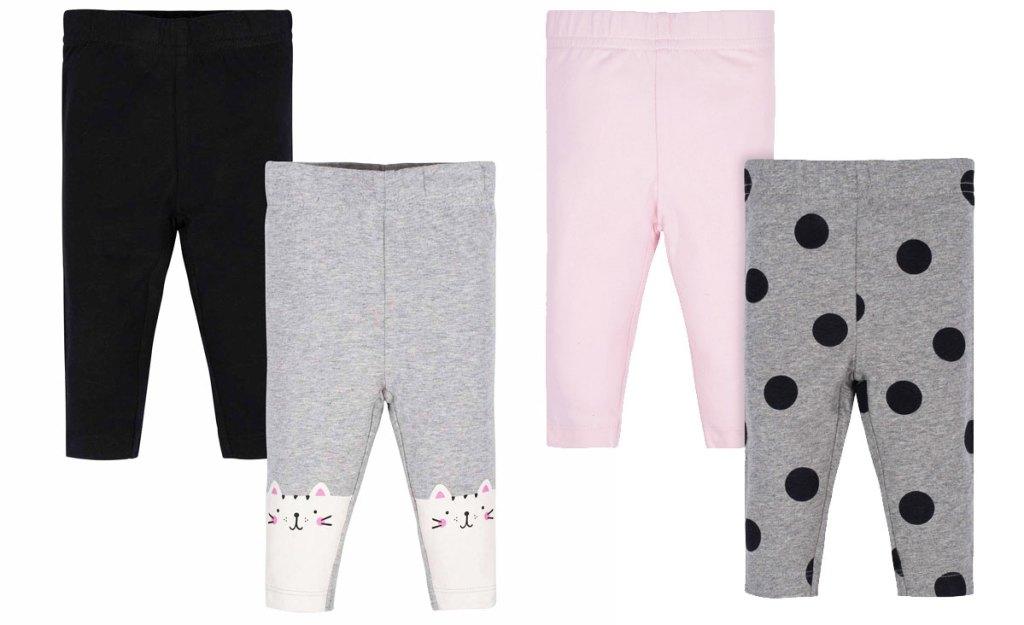 two 2-pack sets of girls leggings
