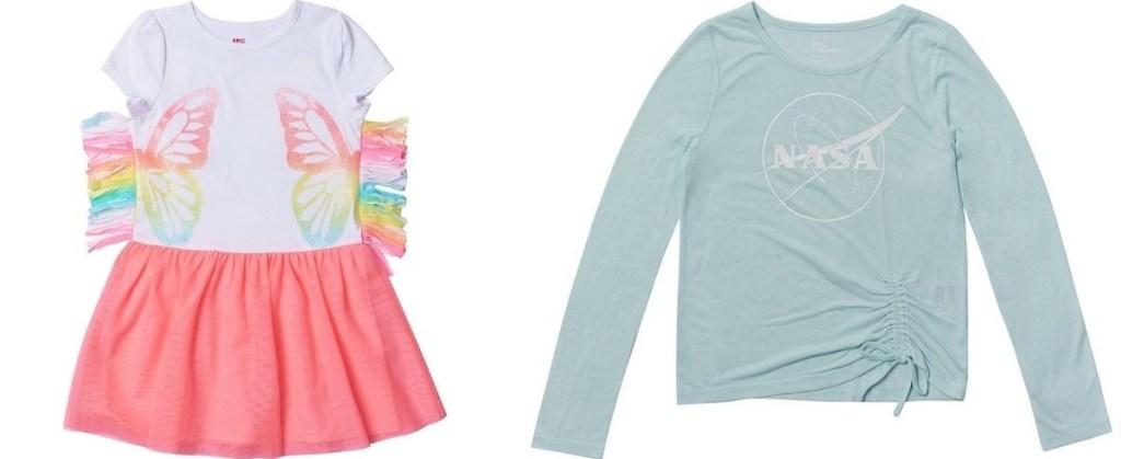 Girls Dress and Shirt