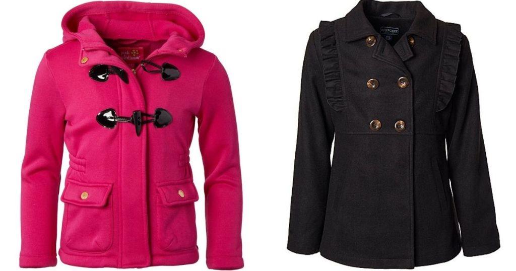 pink jacket and a black jacket