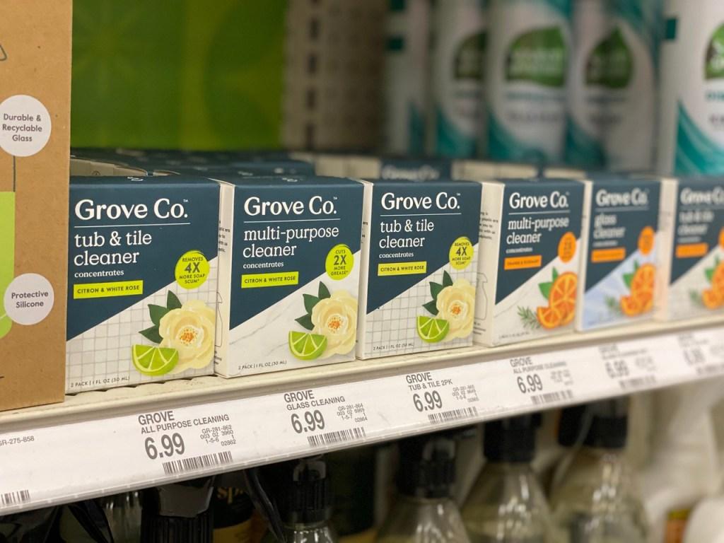 Grove Co Glass Cleaner on store shelf
