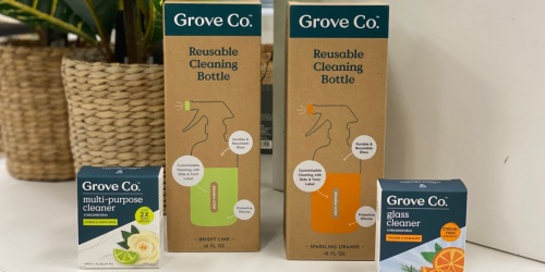 Grove & Co Glass Spray Bottle or Soap Dispenser + Concentrated Refill from $4.99 at Target (Starting May 16th)