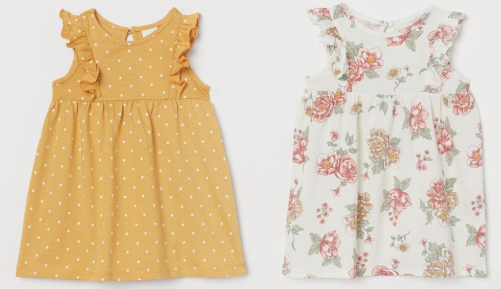 h&m pattern dresses