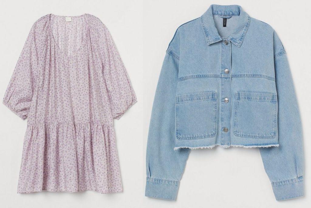 H&M Women's Airy Dress and Denim Jacket