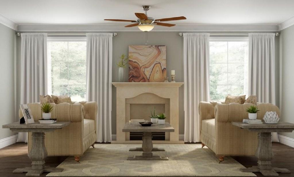 Hampton Bay Springview 52 in. Indoor Brushed Nickel Ceiling Fan with Light Kit