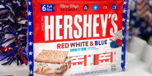 Hershey's Red White & Blue Cookies 'N' Creme Chocolate Bars Are Back Just in Time for Memorial Day