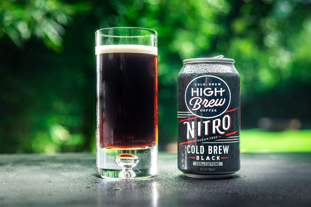 High Brew Cold Brew Nitro next to a glass of coffee
